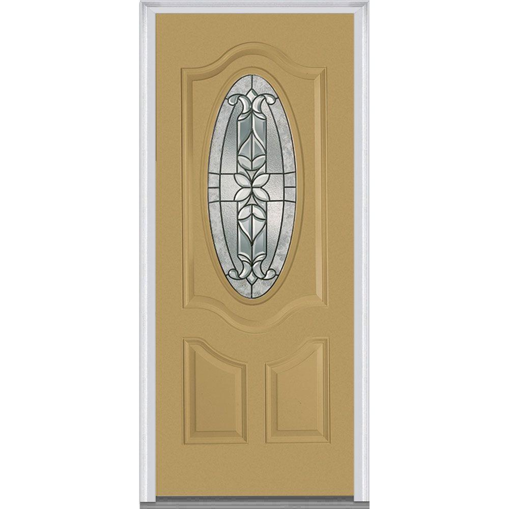 36 in. x 80 in. Cadence Left-Hand Small Oval 2-Panel Deluxe