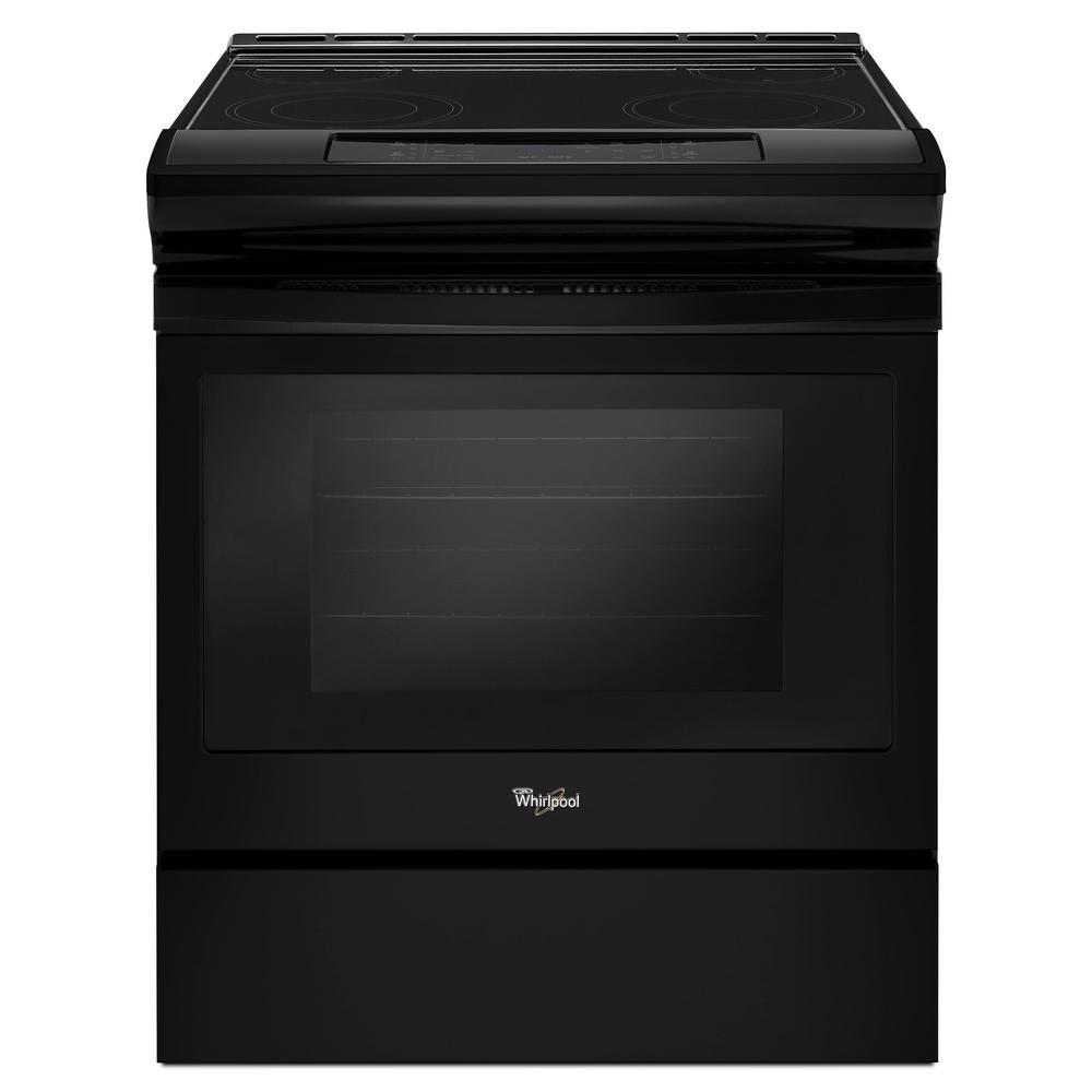 Whirlpool 30 in. 4.8 cu. ft. Slide-In Electric Range in B...
