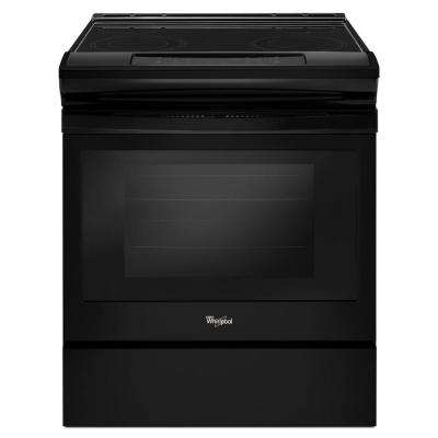 30 in. 4.8 cu. ft. Slide-In Electric Range in Black