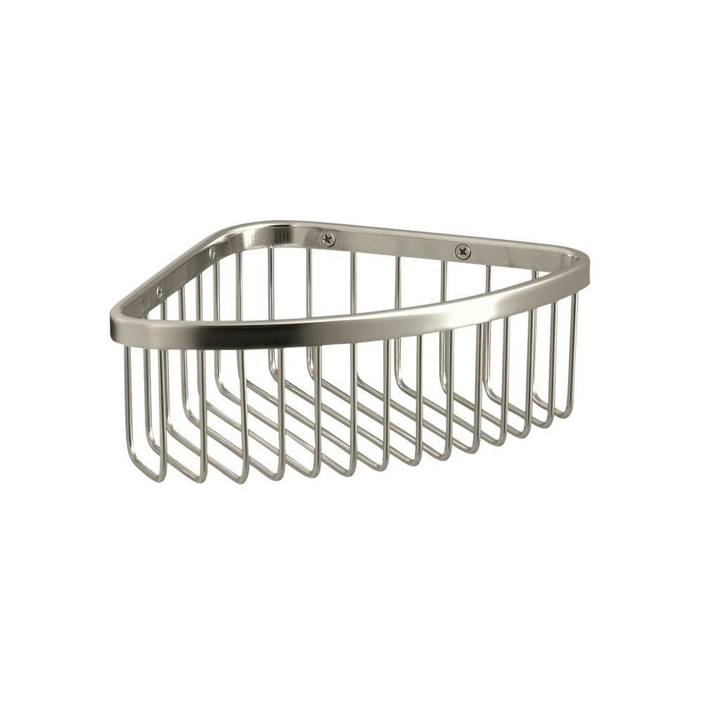 Medium Shower Basket in Vibrant Polished Nickel