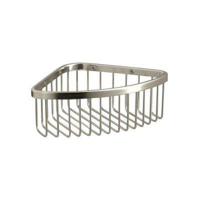 Medium Shower Basket in Vibrant Polished Nickel