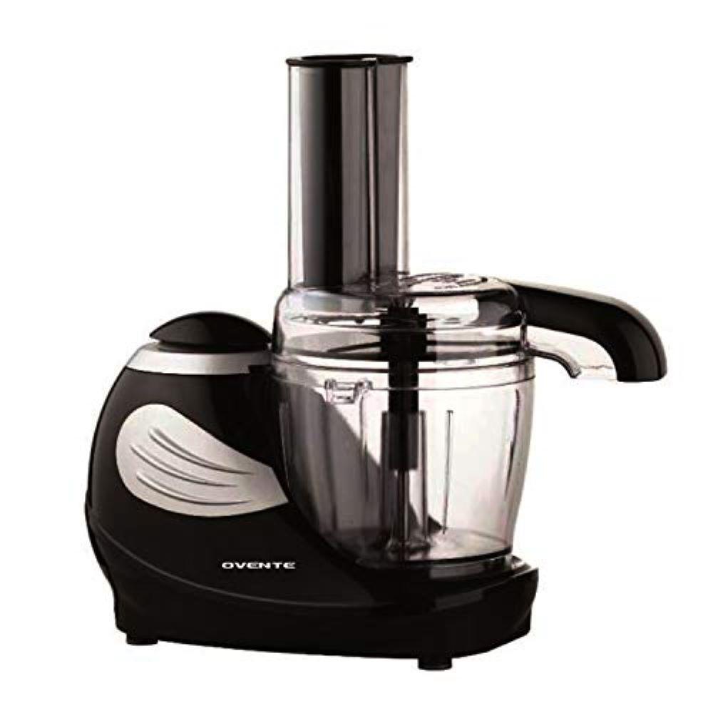 1.5-Cup Single Speed Black Mini Food Processor Chopping Blade, Mixer, Shredding/Slicing Disc
