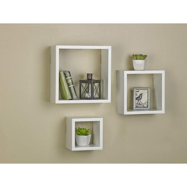 Home Decor Set Of 3 Small Size Floating Wall Shelf 4In Showcase White Ships Free