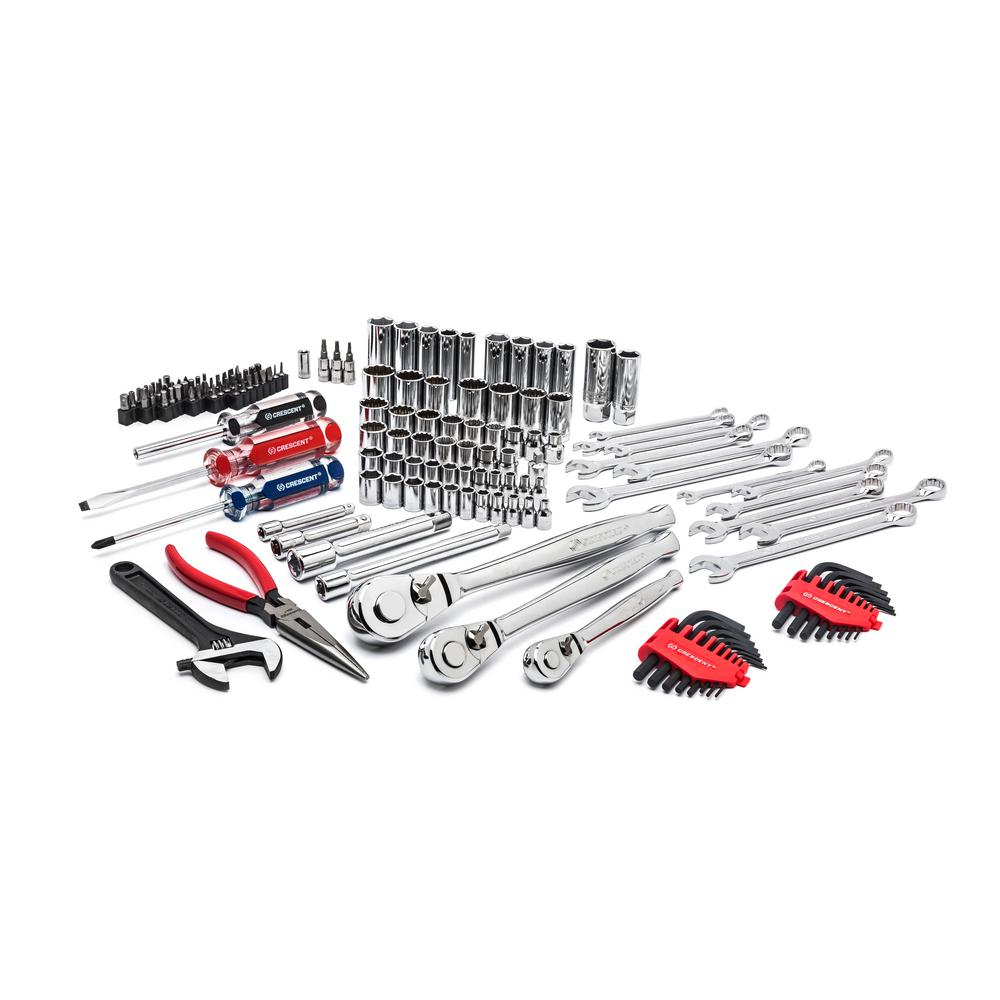 Crescent 1/4 in. 3/8 in. and 1/2 in. Drive Mechanics Tool Set (148-Piece)