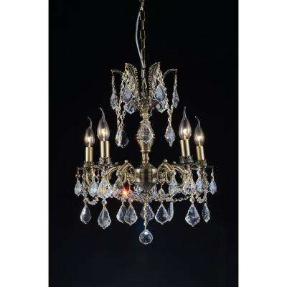 Brass 5-Light Antique Brass Chandelier