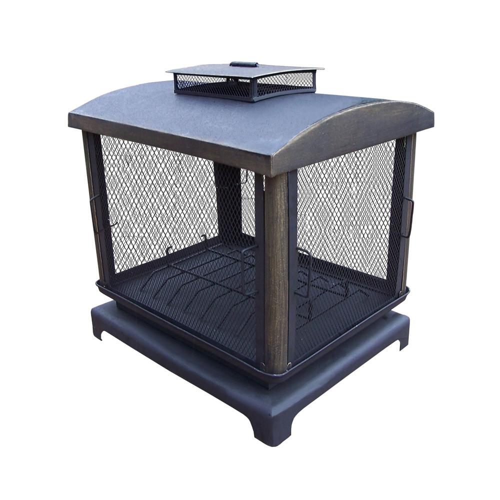 37 in. Outdoor Fire Place Pit with 360° View and Full