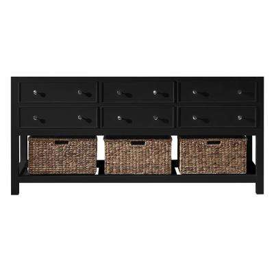 Elodie 71.2 in. W x 21.7 in. D x 33.5 in. H Bath Vanity Cabinet Only in Espresso