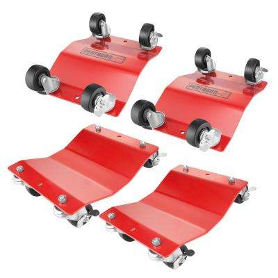 1,500 lbs. Capacity Solid Steel Commercial Grade Tire Dolly (4-Pack)
