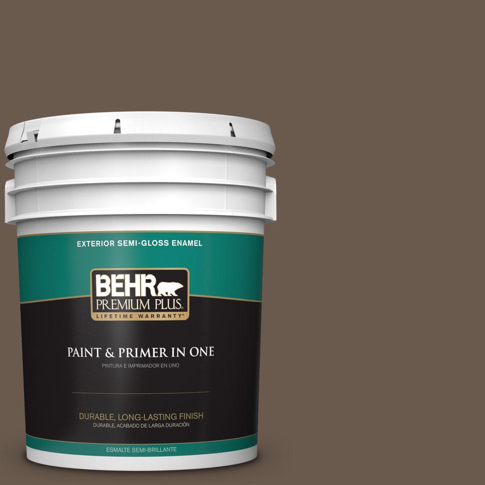 5 gal. #PPU5-02 Aging Barrel Semi-Gloss Enamel Exterior Paint