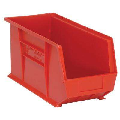 Ultra Series Stack and Hang 7.2 Gal. Storage Bin in Red (6-Pack)