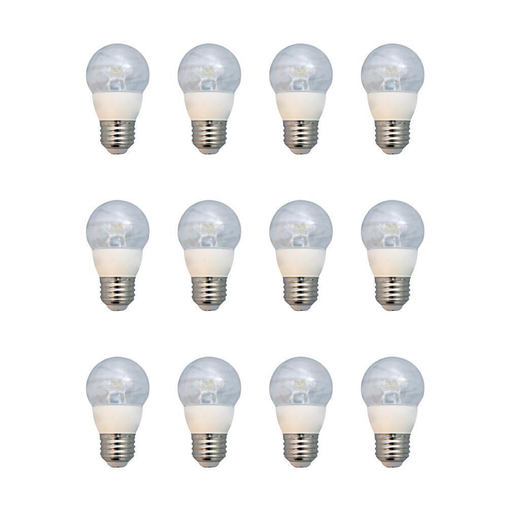 Deals on 12-PK EcoSmart 60-Watt Equivalent G16.5 Dimmable LED Light Bulb