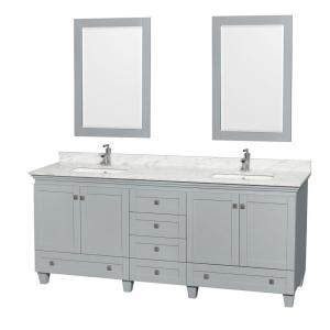 Wyndham Collection Acclaim 80 inch W x 22 inch D Vanity in Oyster Gray with Marble Vanity... by Wyndham Collection
