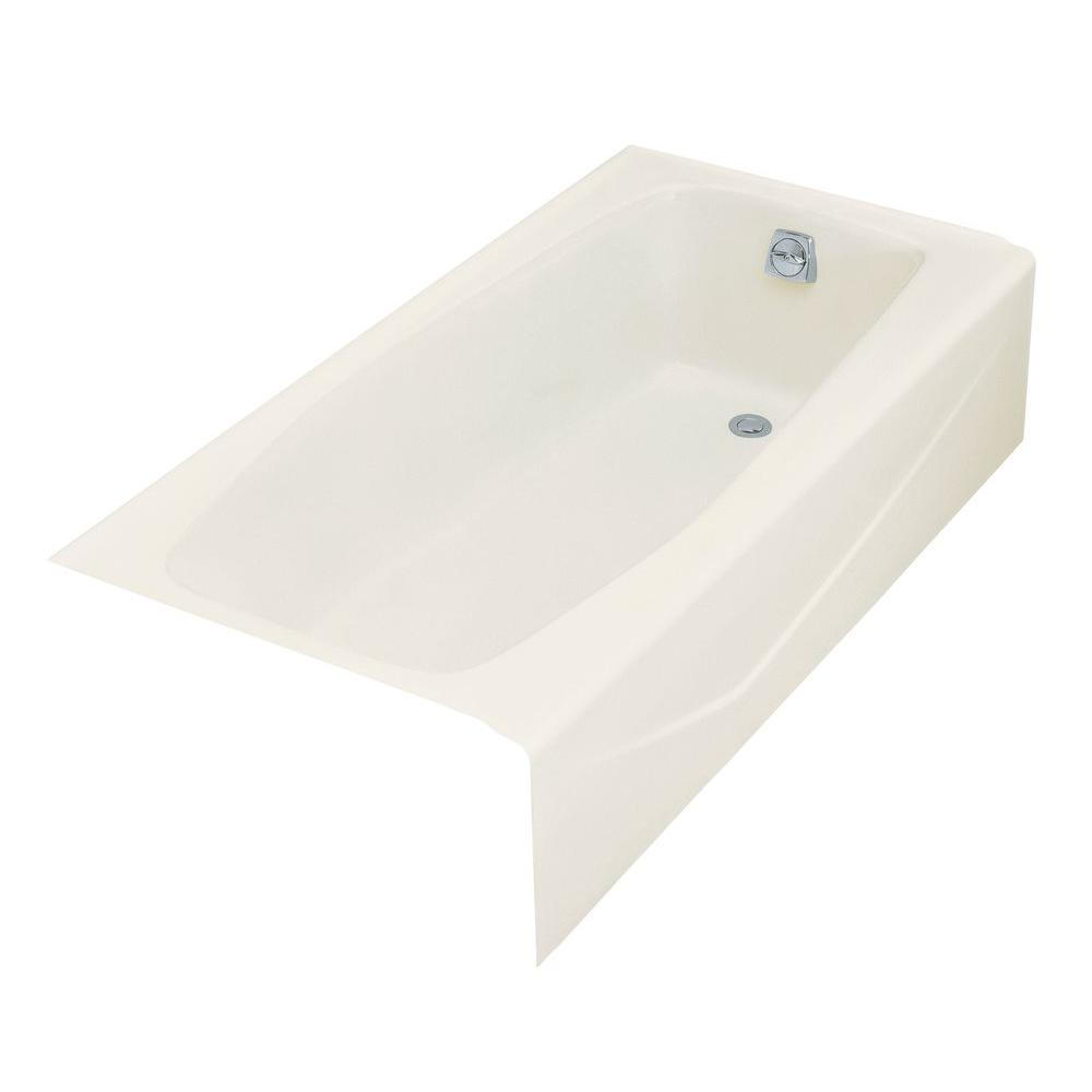 KOHLER Villager 5 ft. Right Drain Rectangular Alcove Cast Iron ...