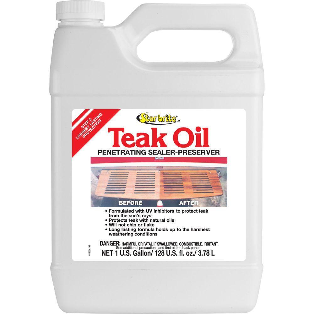 Star Brite 1 Gal Teak Oil 081600 The Home Depot