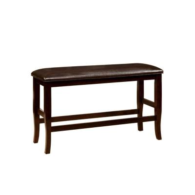 "Woodside Counter Height Espresso Finish Bench 15"" L x 41"" W x 26"" H"