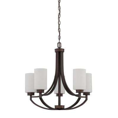 Dalton 5-Light Provincial Bronze Chandelier