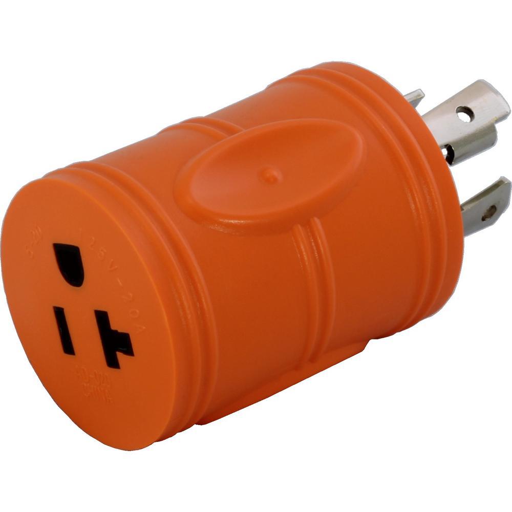 Locking Adapter Nema L14-30P 30Amp 125/250Volt 4Prong Loc...