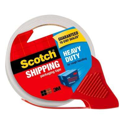 Scotch 1.88 in. x 54.6 yds. (48 mm x 50 m) Heavy-Duty Shipping Packaging Tape, 2-Dispensers with 4-Rolls (Case of 6)