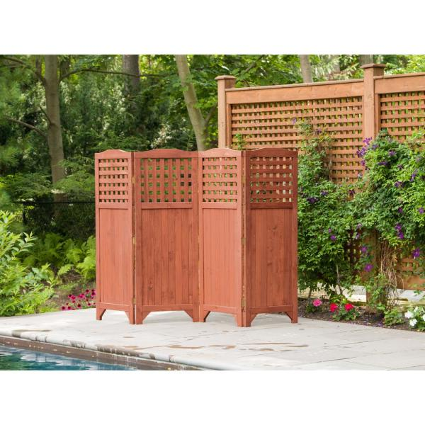 Leisure Season Folding Patio And Garden Privacy Screen Ps9662