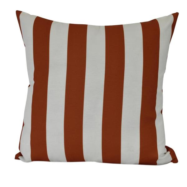 20 in. Rugby Stripe Indoor Decorative Pillow PS866OR16-20