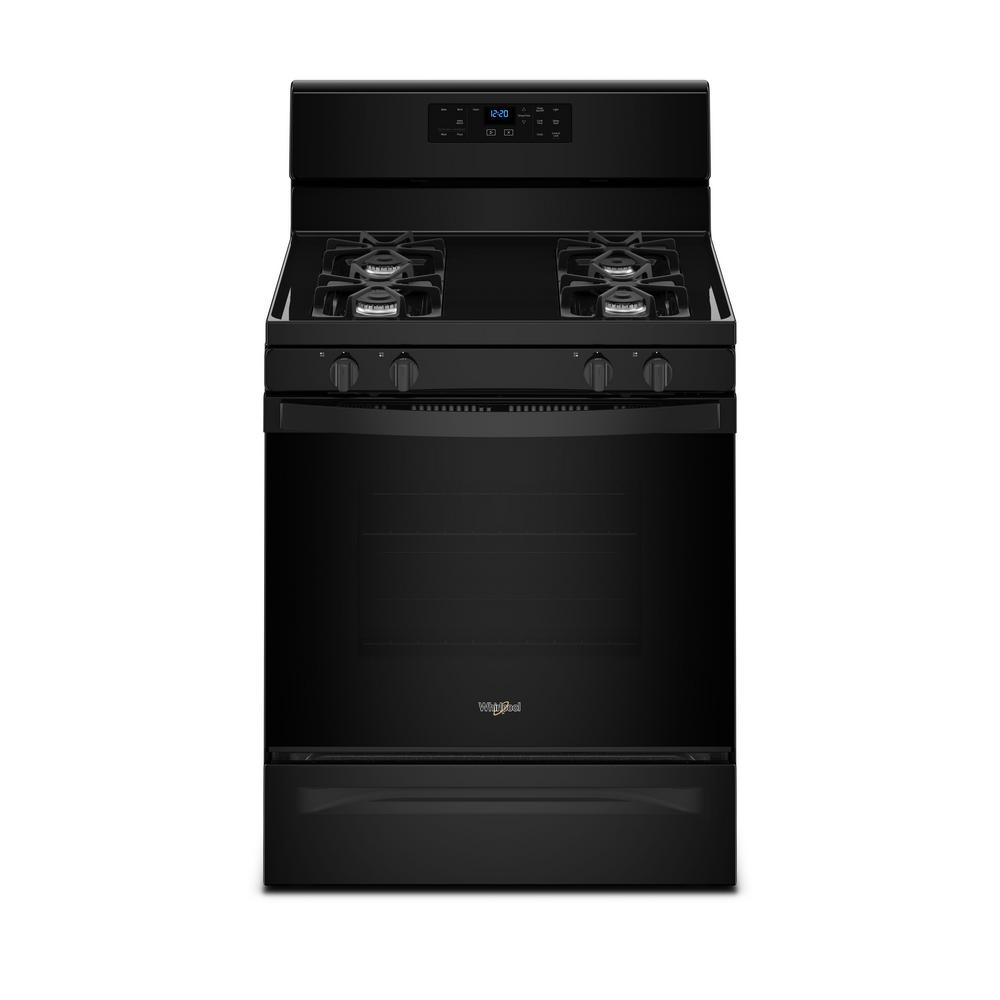 Whirlpool 5.0 cu. ft. Freestanding Gas Range with Adjustable Self-Cleaning in Black