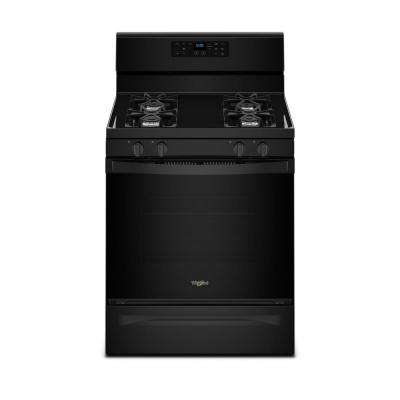 5.0 cu. ft. Freestanding Gas Range with Adjustable Self-Cleaning in Black