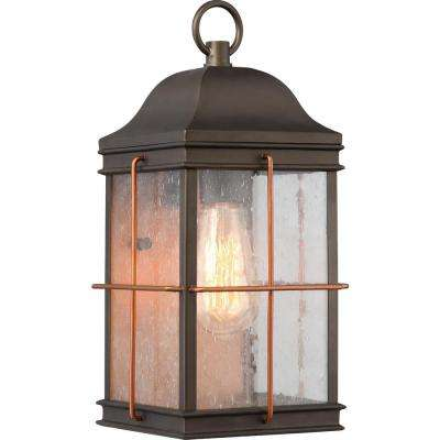 1-Light Bronze Outdoor Sconce