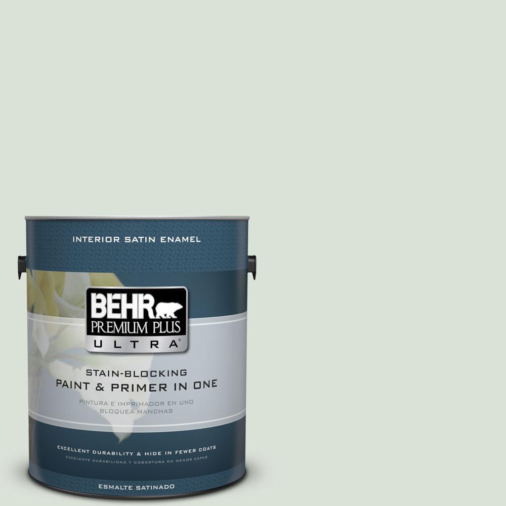 1-gal. #N390-1 Light Mist Satin Enamel Interior Paint
