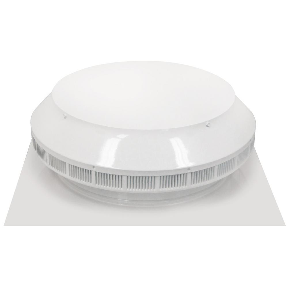 12 in. Dia Aluminum Roof Louver Exhaust Vent in White Powder