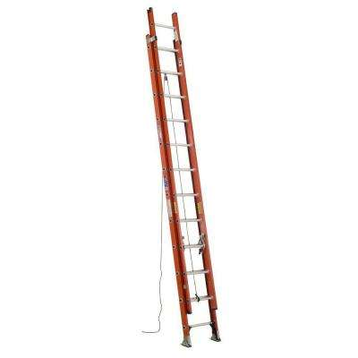 24 ft. Fiberglass Extension Ladder with 300 lb. Load Capacity Type IA Duty Rating