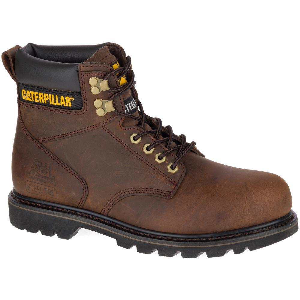 dbffdbd4138 CAT Footwear Second Shift Men's Size 10M Tan Steel Toe Boots