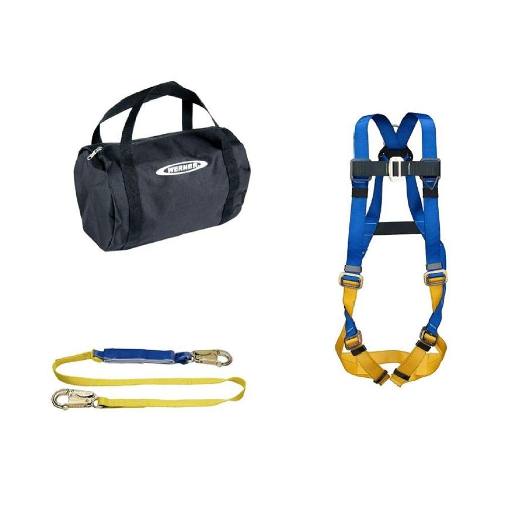 WERNER UpGear Aerial Kit with BaseWear Std Harness and 6 ft. DeCoil Lanyard