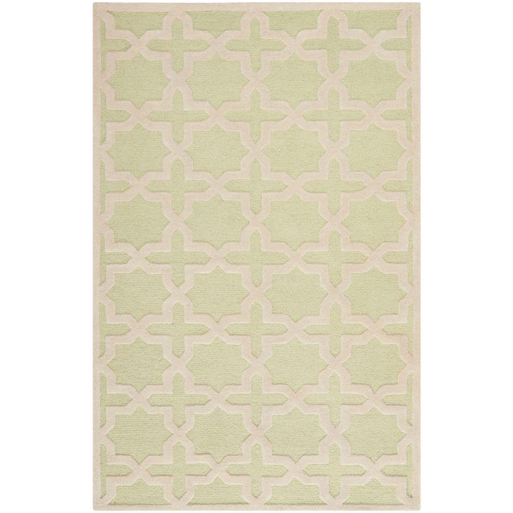 Cambridge Light Green/Ivory 4 ft. x 6 ft. Area Rug