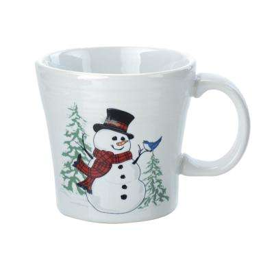 15 oz. White Ceramic Snowman Tapered Mug