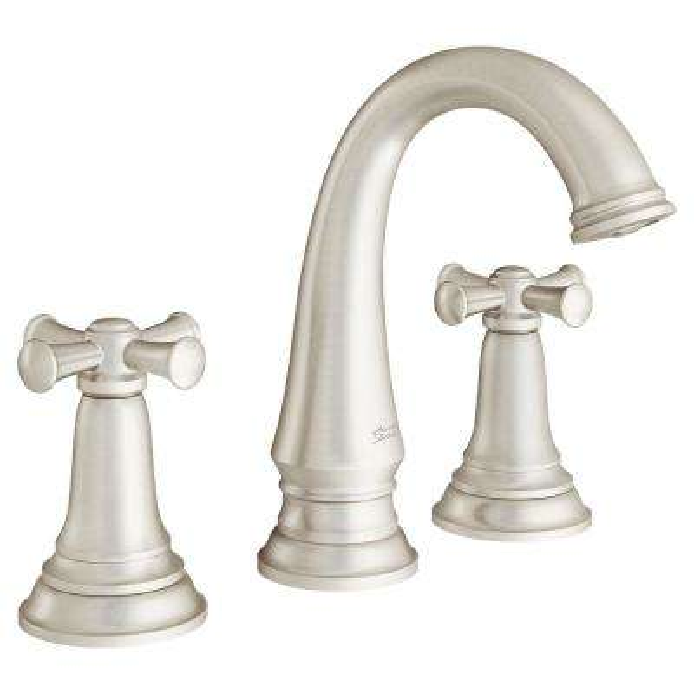 Delancey 8 in. Widespread 2-Handle Bathroom Faucet with Cross Handles in Brushed Nickel