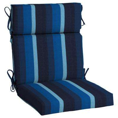 Sunbrella Gateway Indigo High Back Outdoor Dining Chair Cushion