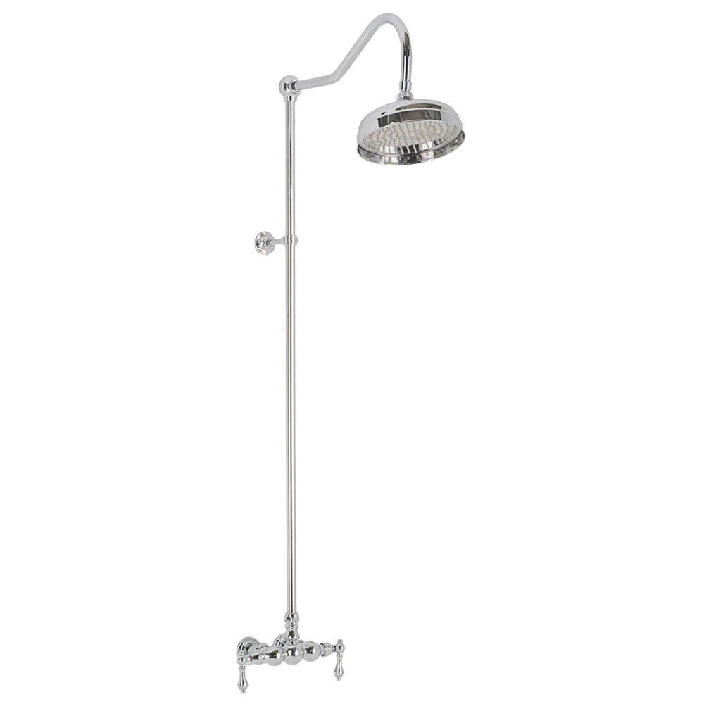 Elizabethan Classics 2-Handle 1-Spray Wall-Mount Exposed Tub and Shower Faucet in Oil Rubbed Bronze (Valve Included)