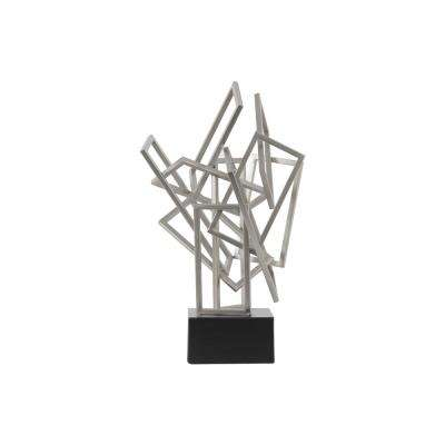 19.75 in. H Sculpture Decorative Sculpture in Silver Coated