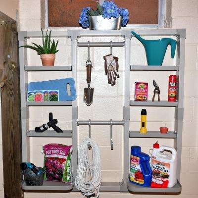 VersaCaddy 48 in. x 48 in. Organization Kit with Uni-Frame including 8 Durable PVC Shelves and 4 Hooks