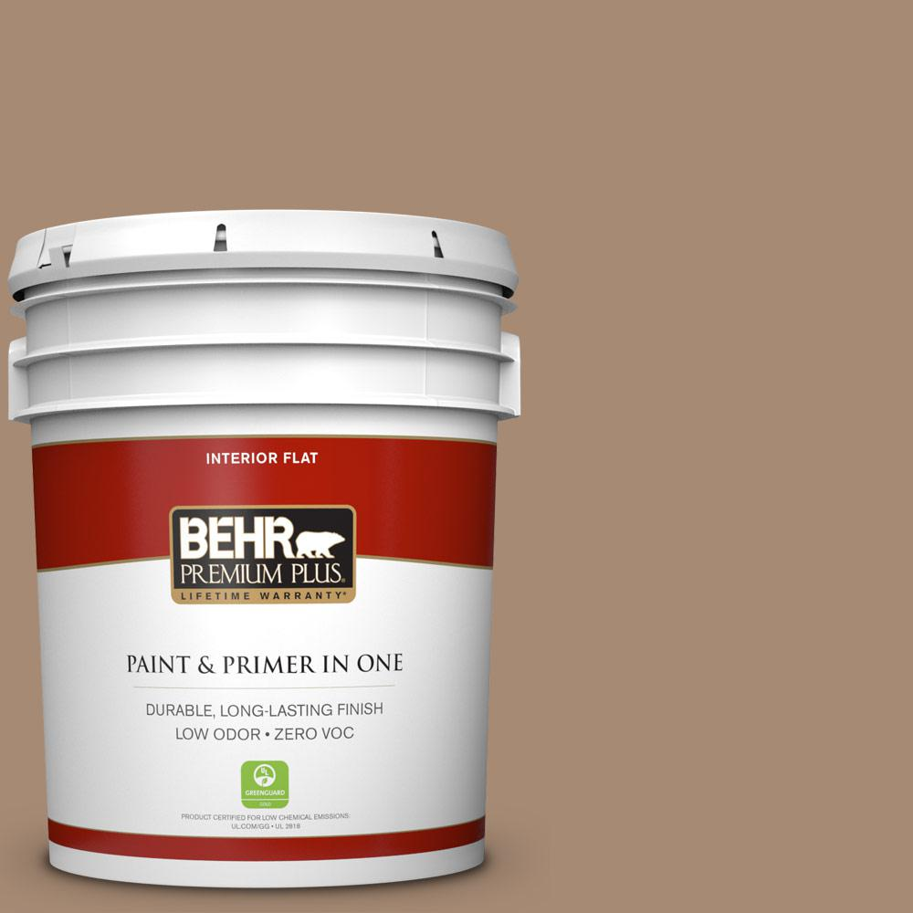 5 gal. #N240-5 Rodeo Tan Flat Zero VOC Interior Paint and