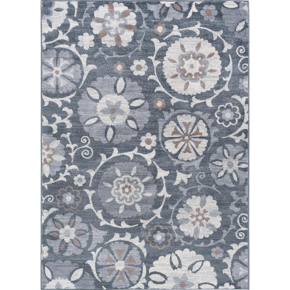 Tayse Rugs Madison Gray 5 Ft. X 7 Ft. Area Rug-MDN3109 5x7