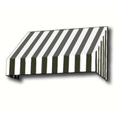 8 ft. New Yorker Window/Entry Awning (44 in. H x 48 in. D) in Black/White Stripe