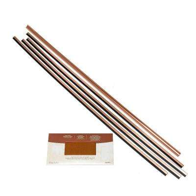 Large Profile Backsplash Accessory Kit in Polished Copper