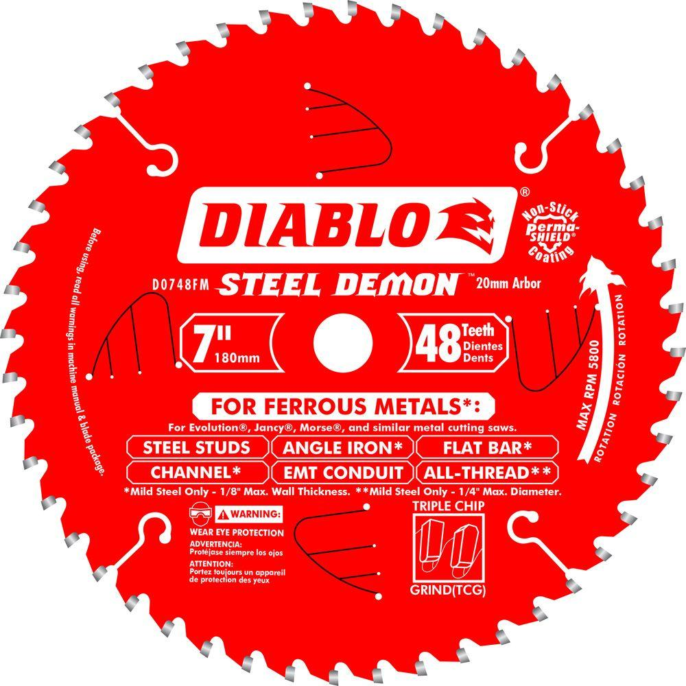 7 in. x 48-Tooth x 20mm Arbor Steel Demon Ferrous Metal