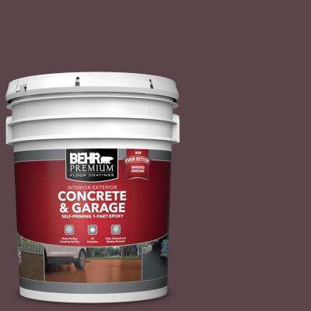 5 gal. #PFC-05 Cafe Iruna Self-Priming 1-Part Epoxy Satin Interior/Exterior Concrete and Garage Floor Paint