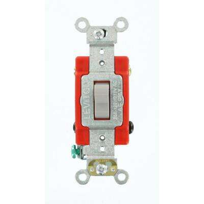 20 Amp Industrial Grade Heavy Duty 4-Way Toggle Switch, Gray