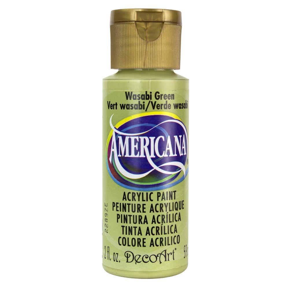 Americana 2 oz. Wasabi Green Acrylic Paint