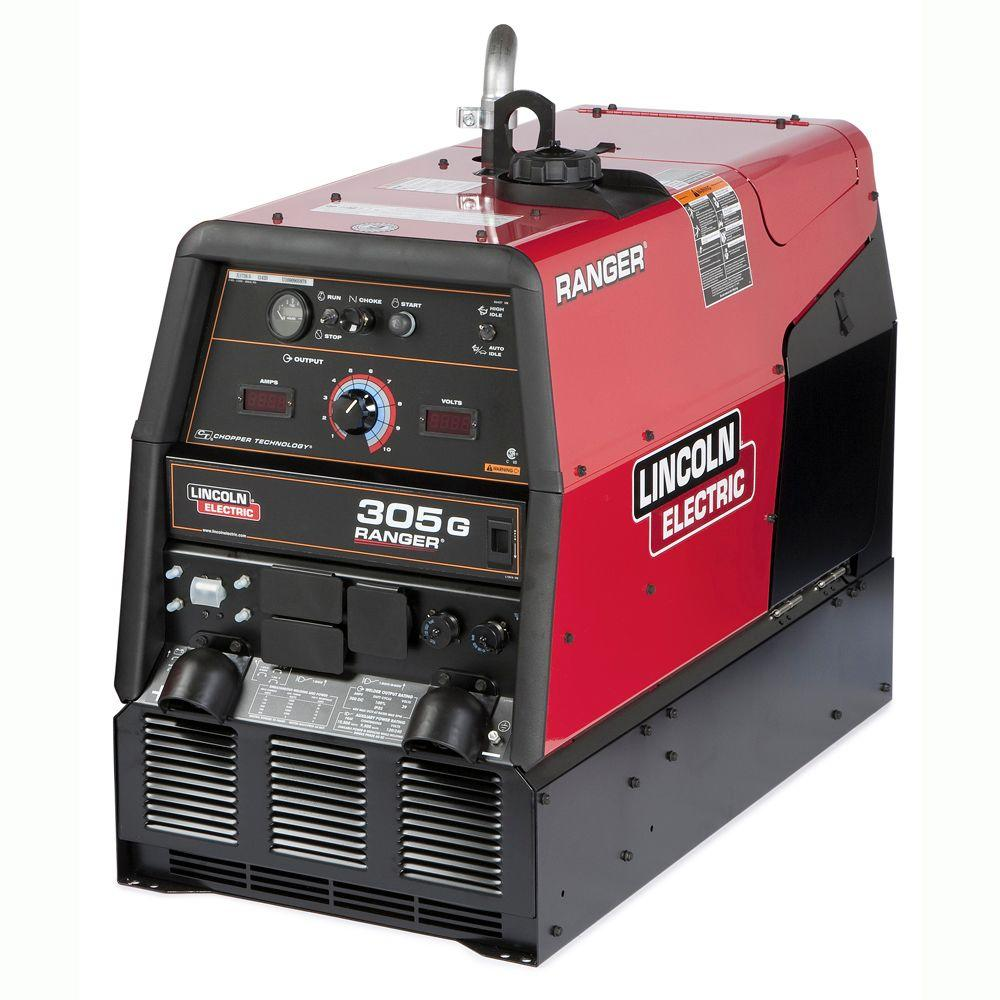 Lincoln Electric 300 Amp Ranger 305 G Gas Engine Driven Multi-Process DC  Welder, 10 5 kW Peak Generator (Kohler)