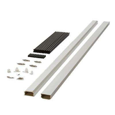 White Unrouted Capped Composite Rail Section With Metal