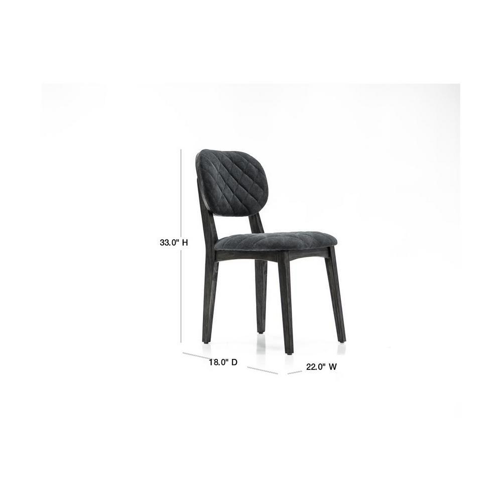 Armen Living Katelyn Gray Open Back Dining Chair Set Of 2 Lckasitgrv The Home Depot